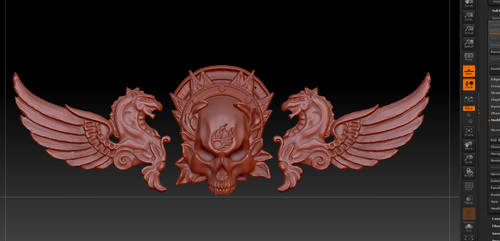 Witch hunter belt buckle...so far... o.O by Valimaa
