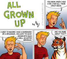 Calvin + Hobbes - All Grown Up by KevLev