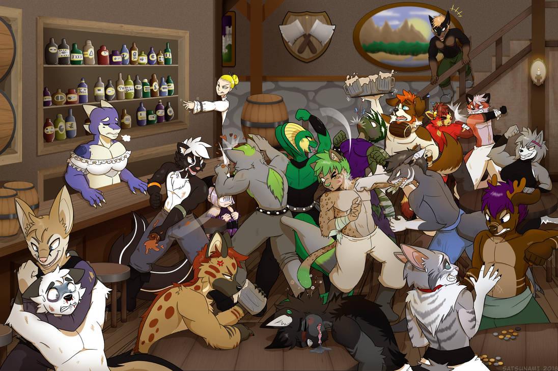 Brawl in the Tavern by Psychopatrick88