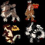 Christmas Raffle Species (4/4 OPEN) by blackarachnia58