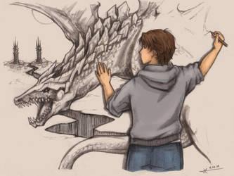 The Dragon Mural by DeviantKirigishi