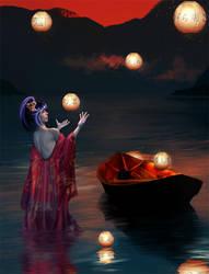 Paper Lanterns by niraky