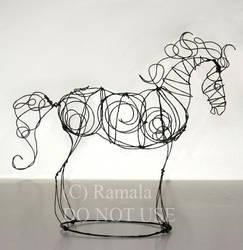 Wire Horse Figure by Ramala