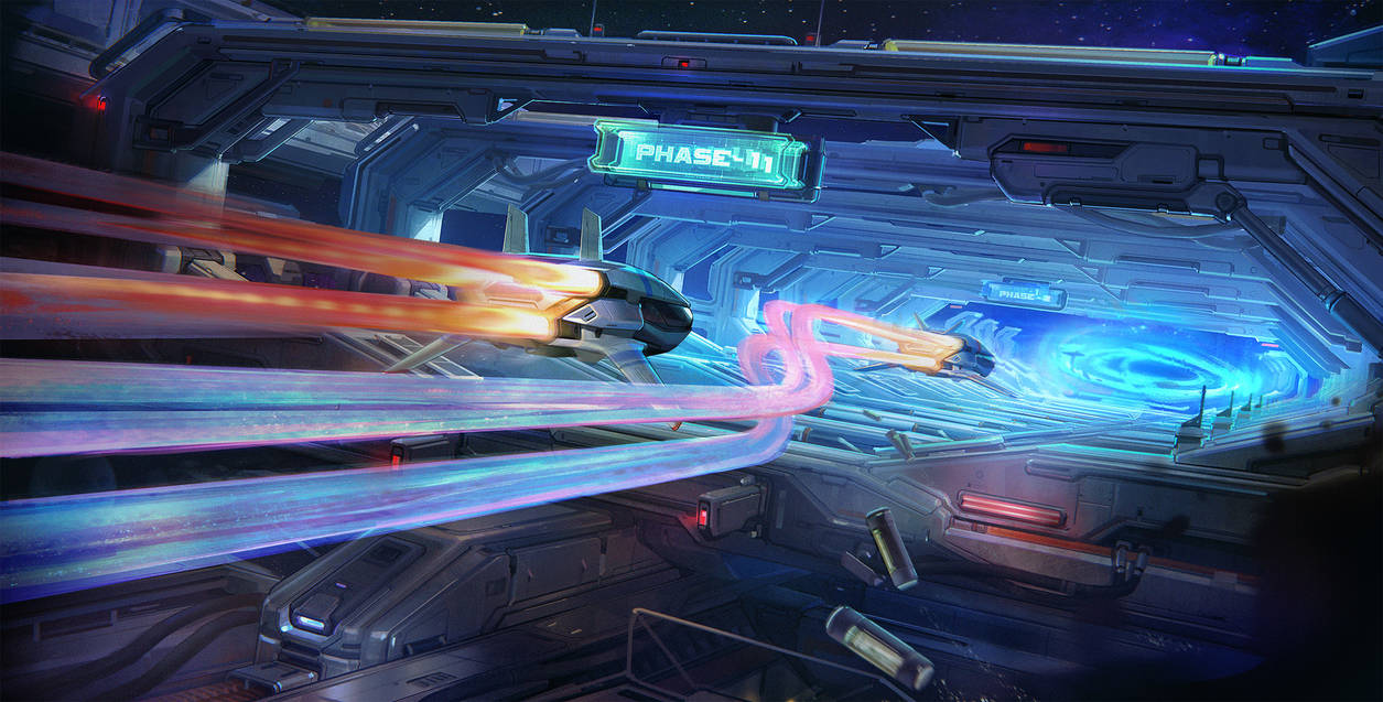 Space jump tunnel by Up-Tchi