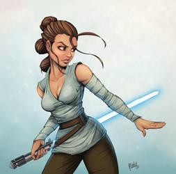 Rey training by muglo
