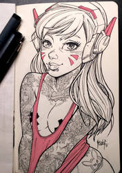 Suicide Girl D.Va by muglo