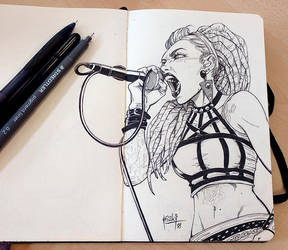 Lena Scissorhands sketch by muglo