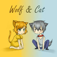 Minecraft 8 - Wolf and Cat by Ofelie