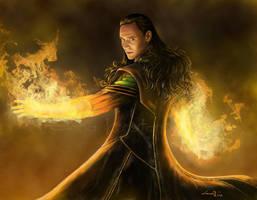 Loki God Of Fire by legadema666