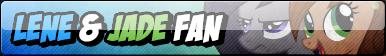 Lene and Jade Fan Button by JaDeDJynX