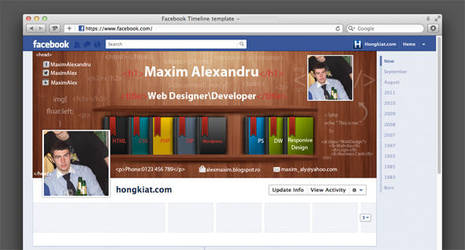 Web designer/developer Facebook cover by MaximAlex