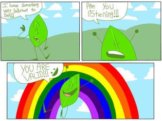 Leafy has something to say! by GayJackalopes
