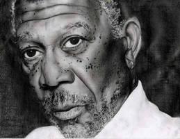 Morgan Freeman by dollparts21