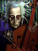 cello man by PENcutsPAPER