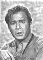 William Shatner portrait by RogueDerek
