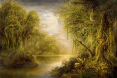 Jungles of an Earth Like Moon by Vladinakova