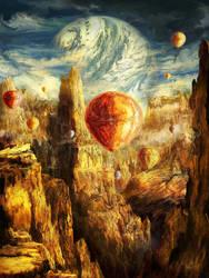Ballooning Through the Cosmic Chasm by Vladinakova