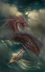 Sea Serpents of the Sea by Vladinakova