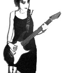 Charcoal + Chalk guitarist by forkbat