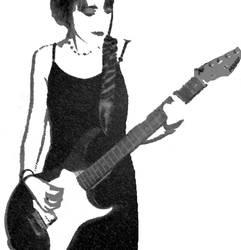 Charcoal + Chalk guitarist two by forkbat