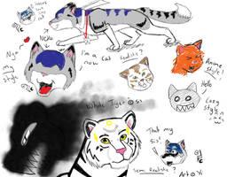 Neko doodle by ShadowYinYang