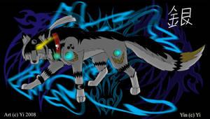 Silver Black Wolf by ShadowYinYang