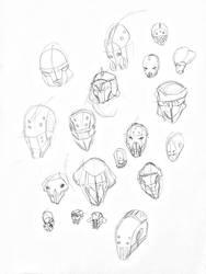 Helmet sketches by metaldemonx111