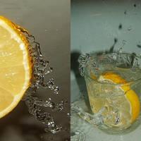 lemon water. by madziu