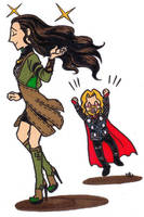 Lady Loki has beautiful hair by po19