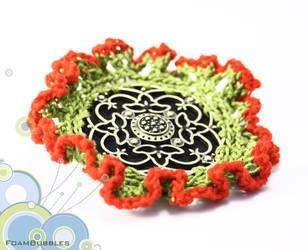 Flower brooche by FoamBubbles