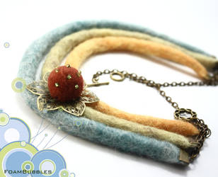 Felted Necklace by FoamBubbles