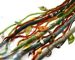 Colorful Handmade Wool DreadFall by FoamBubbles