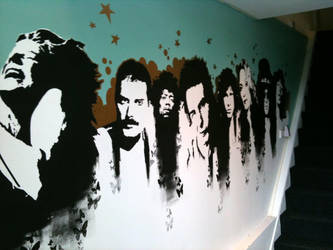 mural for radio station by kone1972