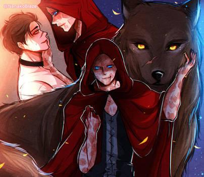 Red Riding hood spideypool AU by NanakoBlaze