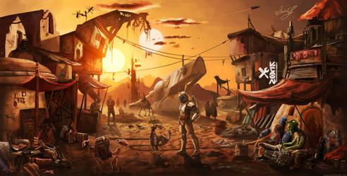 Slum of Tatooine by Variones