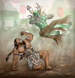 This is Mak'Gora, keep fighting! by Variones