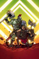 Hulk vs Thor!! by ChickenzPunk