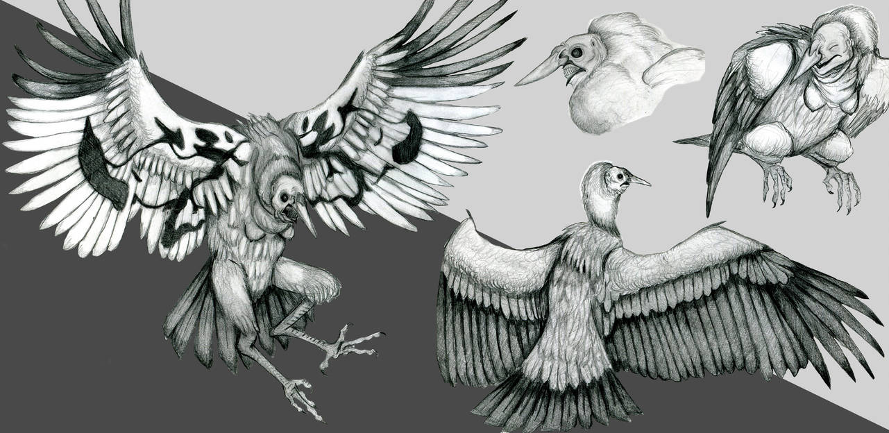 Dream Creature #61: The Harpy by EvilSaintGood