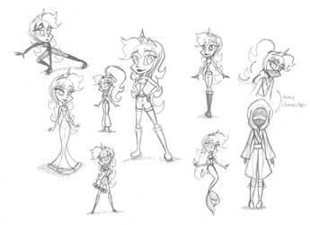 Costume Doodles- Lizzie by Susukomakerfi18