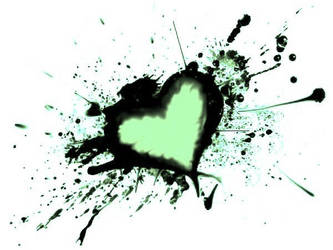 splash green heart by angel-rom