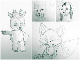 Random sketches by JoshikoseiSnak