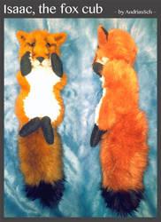 Fox cub plush, red fox by JoshikoseiSnak