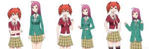 Commission: Kokoa and Moka Age Swap by gomyugomyu