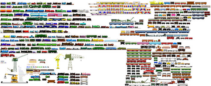 The NWR Fleet (My Headcannon) by islandofsodorfilms