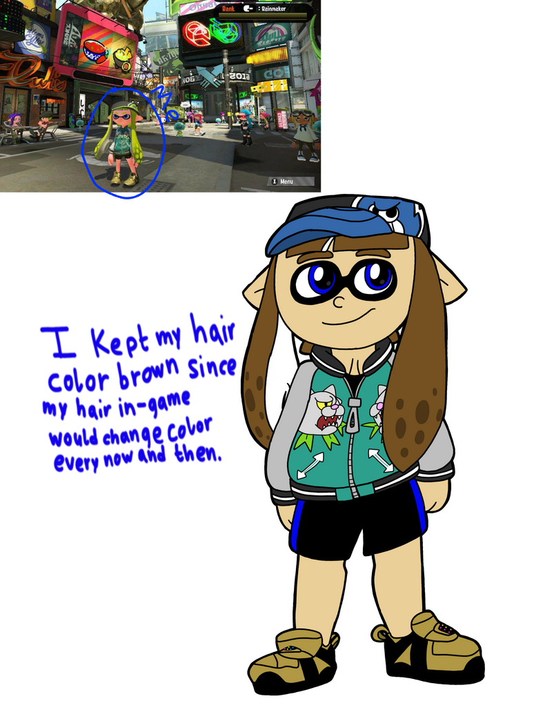 I Drew My Inkling lol by vaporeon1511