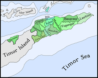 The Municipalities of East Timor/Timor-Leste by Luis2100PT