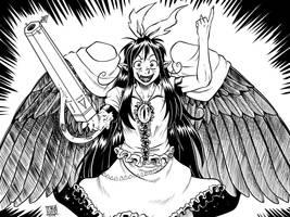 Inkvember 02: Utsuho Reiuji by Ragathol