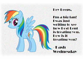 Dash Wednesday Letter by CorpulentBrony