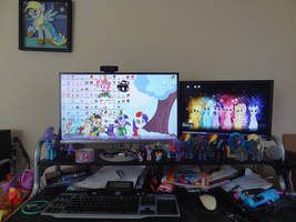 My Desk by CorpulentBrony
