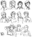 OCs of the RP Groups by athorment